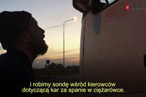 Czy powinno się karać kierowców za spanie w kabinie ciężarówki?
