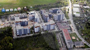 Francuska Atal Park w Katowicach z lotu ptaka