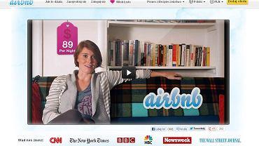 Print screen ze strony www.airbnb.pl