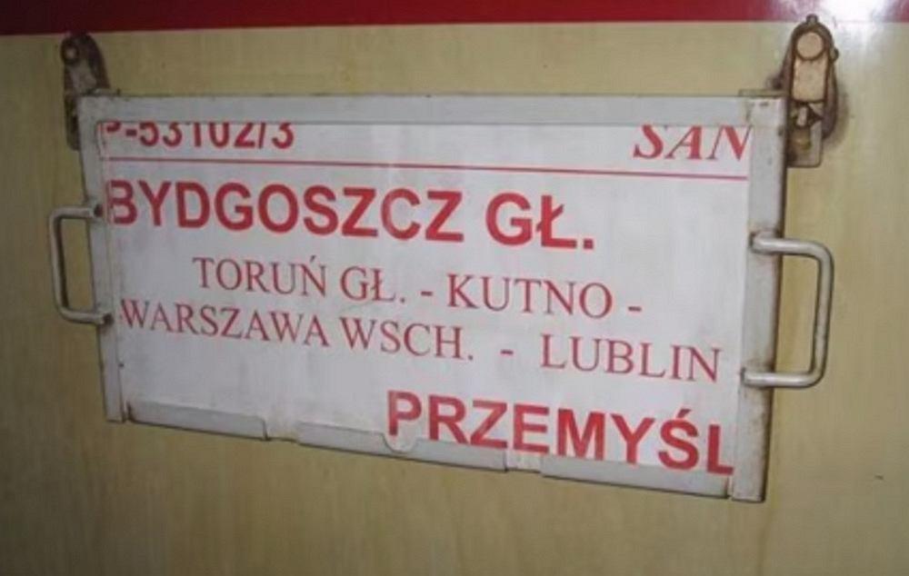 'San' kursował w swoim czasie na trasie Bydgoszcz - Przemyśl (fot. MrPitagoras1989 / YouTube.com)