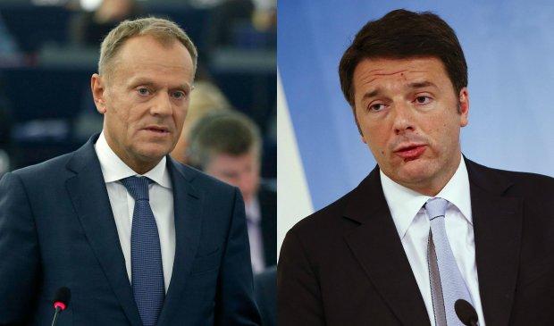 """Renzi krytykuje Tuska za jego s�owa. """"Nasz nar�d uratowa� tysi�ce imigrant�w"""" - broni si� premier W�och"""