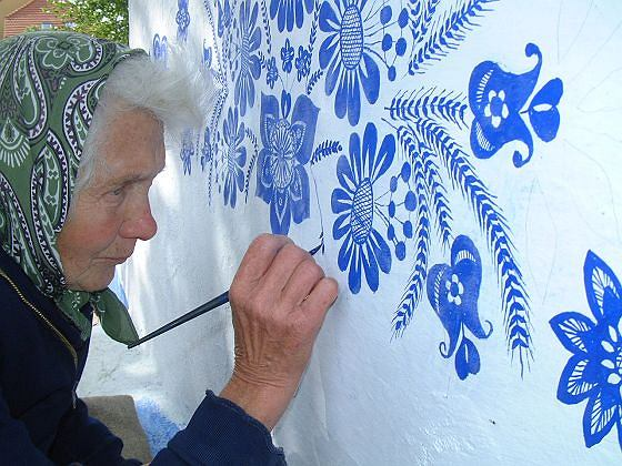 Anežka Kašpárková podczas pracy