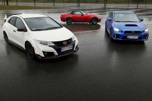 Honda Civic Type R vs Subaru WRX STI vs Mazda MX-5 | Spos�b na emocje