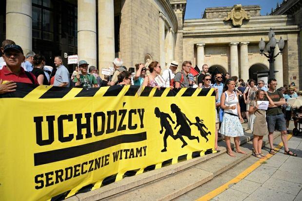 Manifestacja poparcia dla przyj�cia uchod�c�w