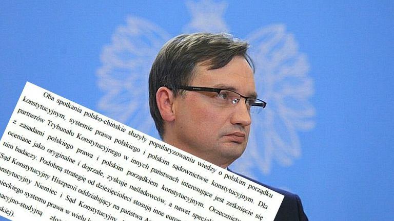 Zbigniew Ziobro i odpowiedź TK.