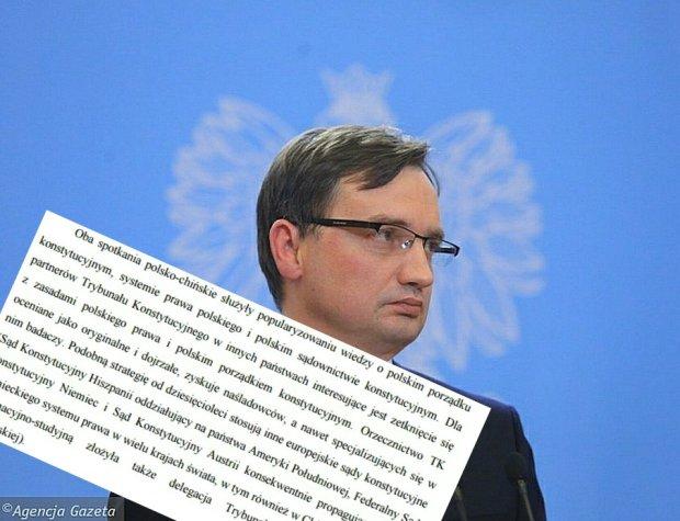 Zbigniew Ziobro i odpowied� TK.