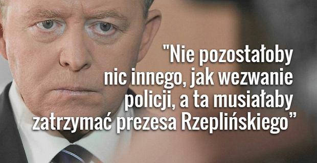 """Europoseł PiS grozi prezesowi TK: Nie dopuści PiS-owskich sędziów? Pozostanie wezwać policję"""""""