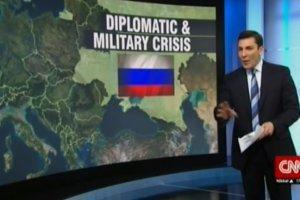 Wpadka telewizji CNN. Wed�ug pokazanej w programie mapy Ukraina ju� jest cz�ci� Rosji