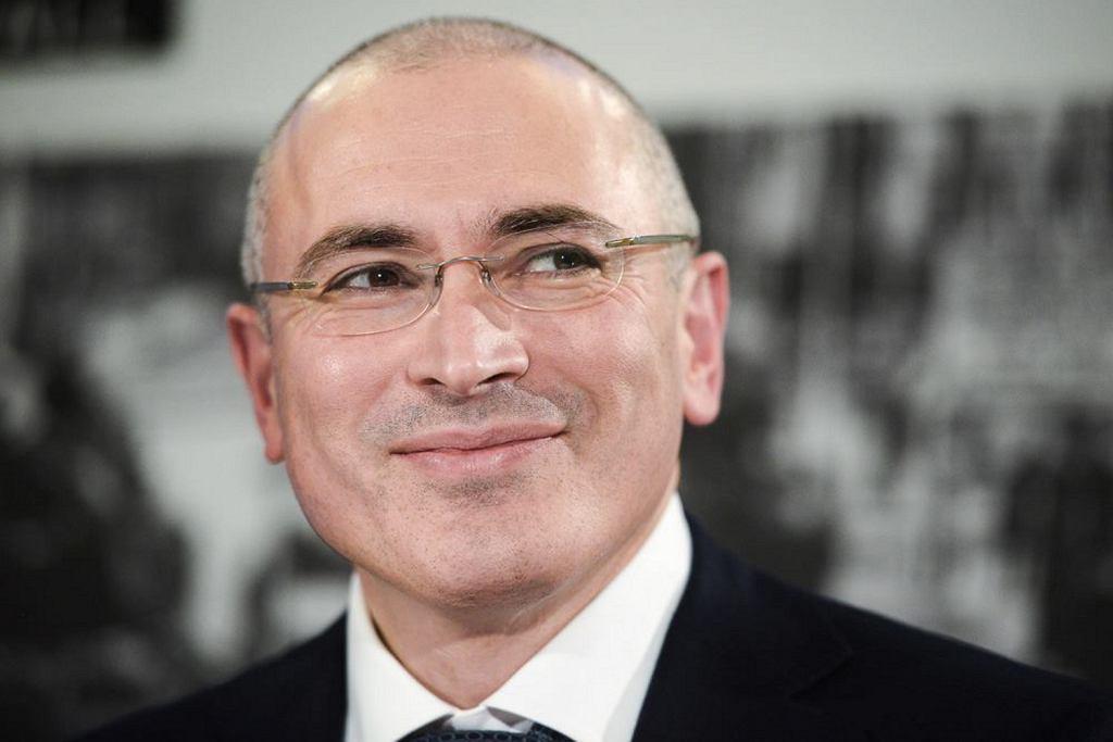 Michaił Chodorkowski 22 grudnia 2013 podczas swojej pierwszej konferencji prasowej po zwolnieniu z odbywania kary (fot. Mitya Aleshkovskiy / Wikimedia.org / CC BY-SA 3.0)