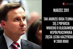 Jak Andrzej Duda zmieniał zdanie w sprawie ułaskawienia