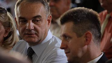 Waldemar Pawlak i Jan Bury podczas posiedzenia Rady Naczelnej PSL. Zdjęcie z  lipca 2014 roku
