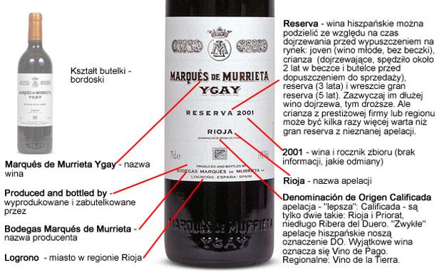 Poradnik: wszystko o etykietach win, alkohol, wino, białe wino, czerwone wino, Etykieta hiszpańska