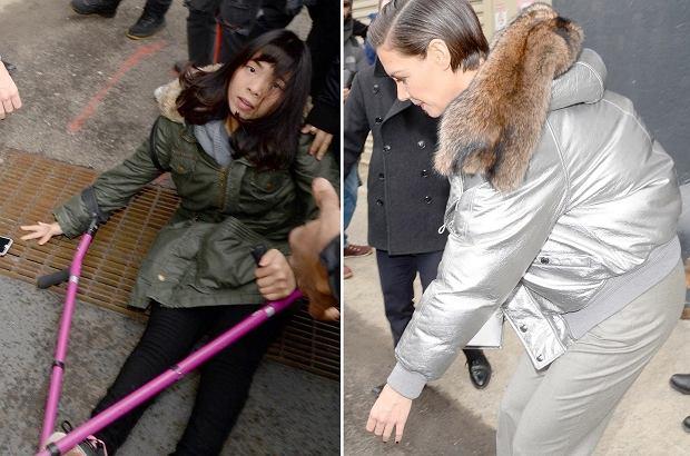 Wypadek w tłumie fanów witających Katie Holmes. Reakcja aktorki natychmiastowa. Brawo!