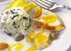 Obiad z cytrusowym indykiem, zupą cebulową i pomarańczowymi muffinkami