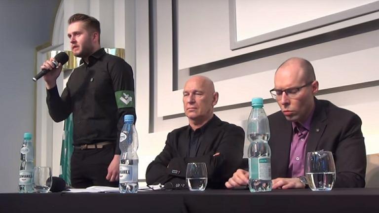 Debata współorganizowana przez ONR w sali w Domu Dziennikarza