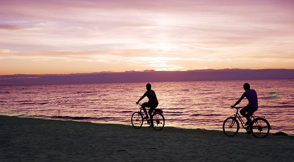 Rowerem nad morzem
