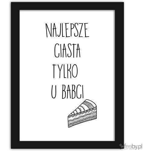 Plakat: Najlepsze ciasta tylko u Babci
