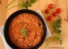 Zupa pomidorowa z soczewicą i kaszą jaglaną