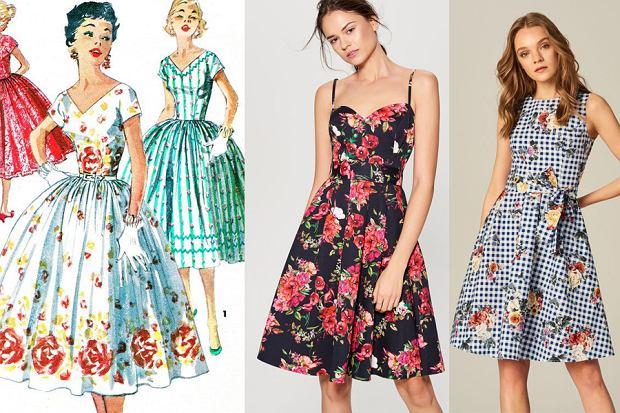 Sukienki retro lata 50.