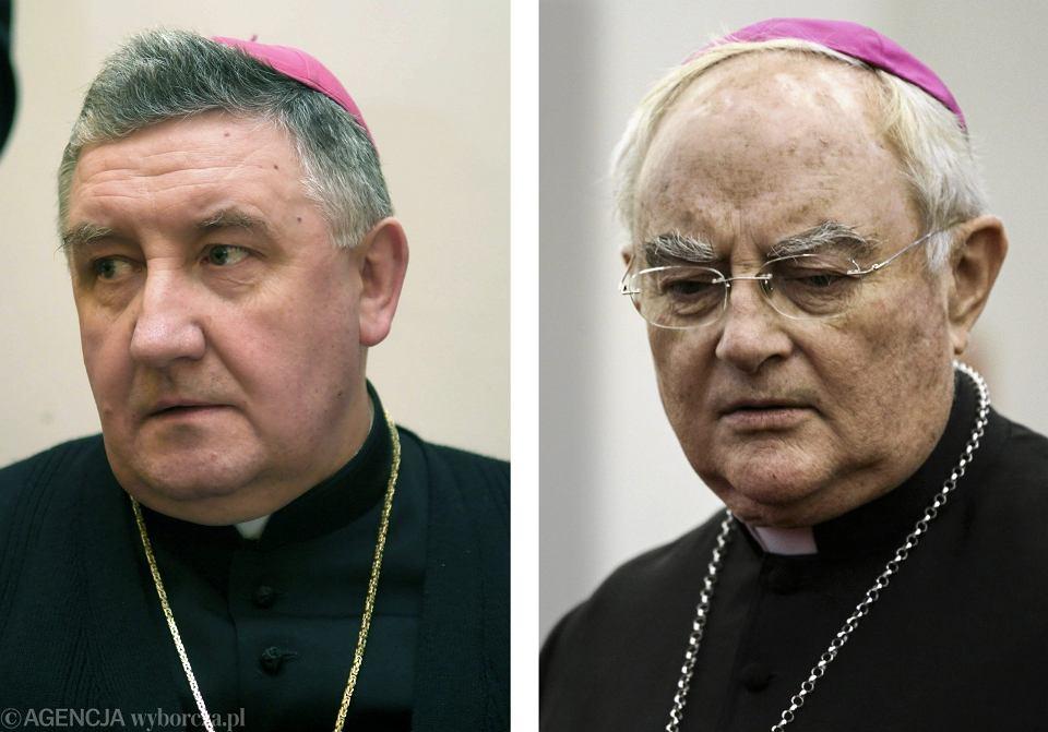 Biskup Romuald Kamiński i arcybiskup Henryk Hoser