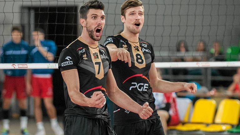 Facundo Conte i Andrzej Wrona z PGE Skry Bełchatów