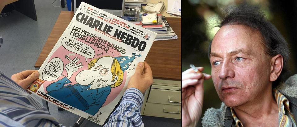 Michel Houellebecq i jego karykatura na okładce środowego wydania