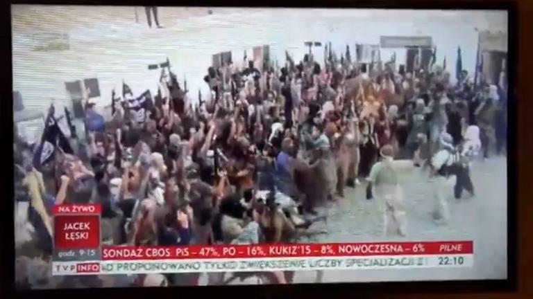 TVP Info z filmem ISIS i piosenką o kebabie