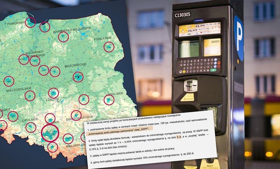 Niektóre samorządy będą mogły zdecydować o wprowadzeniu stawki 9 zł za godzinę parkowania w centrum miast