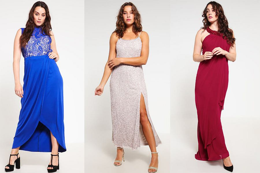 4ce697e9a515 Długa sukienka na wesele dla puszystych  Moda plus size