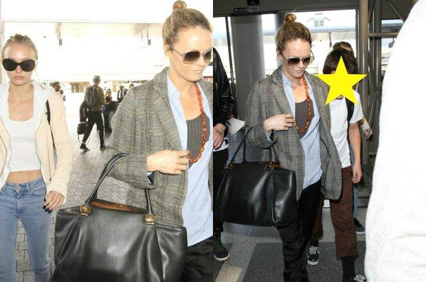 Paparazzi zrobili zdjęcia byłej partnerce Johhny'ego Deppa i ich dwójce dzieci, kiedy pojawili się na lotnisku w Los Angeles.