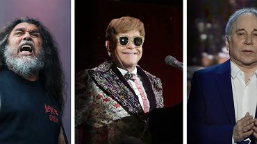 Tom Araya z grupy Slayer; Elton John; Paul Simon