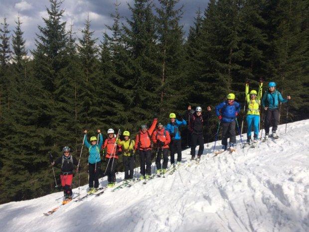 Uczestnicy szkolenia ''Bezpieczny Skituring''