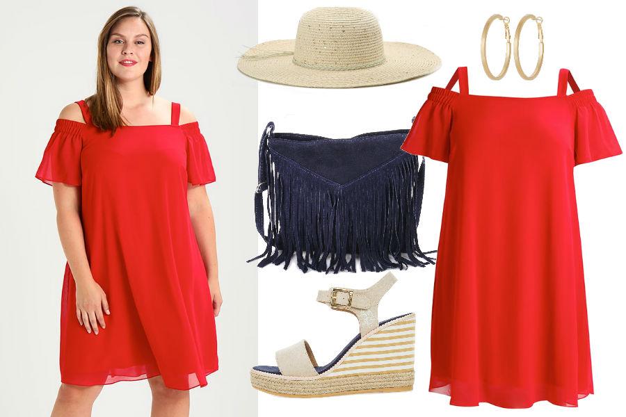 ddb068d193 Kolaż Avanti24   Czerwona sukienka w wersji plus size   Materiały partnera