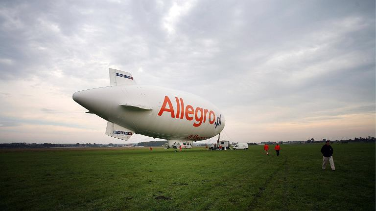 Allegro na sterowcu - akcja promocyjna portalu
