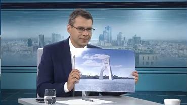 Sreen z audycji z Janem Pietrzakiem internetowej telewizji wPolsce