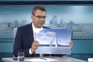 Jan Pietrzak chce ustawić w Warszawie 200-metrowy łuk triumfalny w falach Wisły