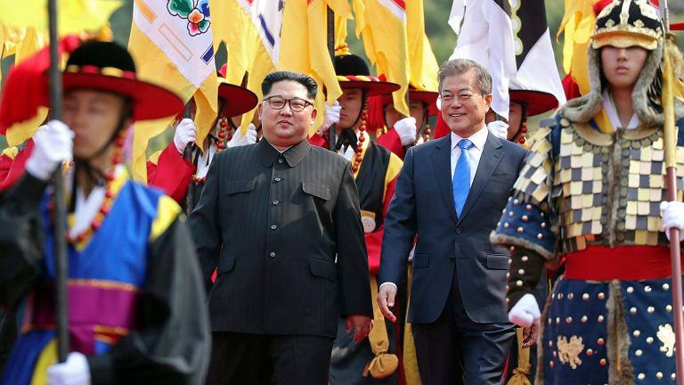 Kim Dzong Un podczas szczyt Korei Północnej z Koreą Południową