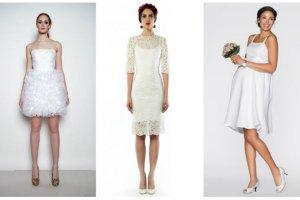 Krótkie suknie ślubne - nasze propozycje