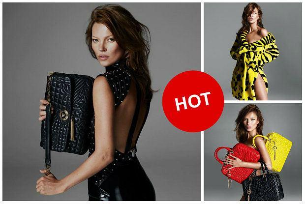 Ciemne włosy, gładka buzia, czyli Kate Moss i jej nowy look w kampanii Versace. Mamy wszystkie zdjęcia!
