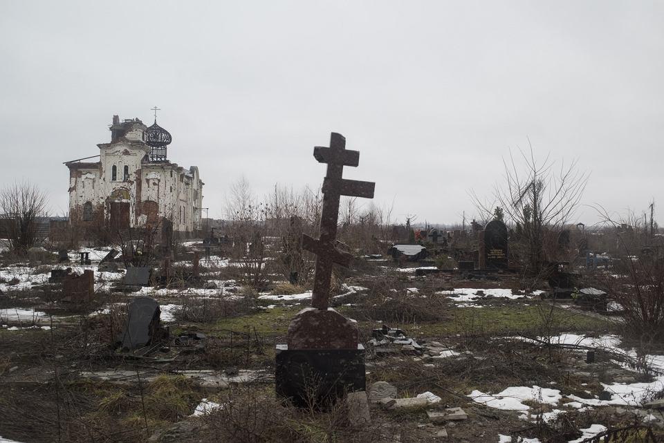 Zniszczone wojną okolice Doniecka