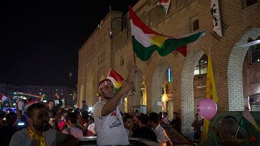 25.09.2017 , Irbil . Radość Kurdów po zakończeniu głosowania w referendum w sprawie niepodległości Kurdystanu .