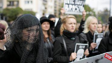 Czarny protest w Olsztynie, 3 października 2016.