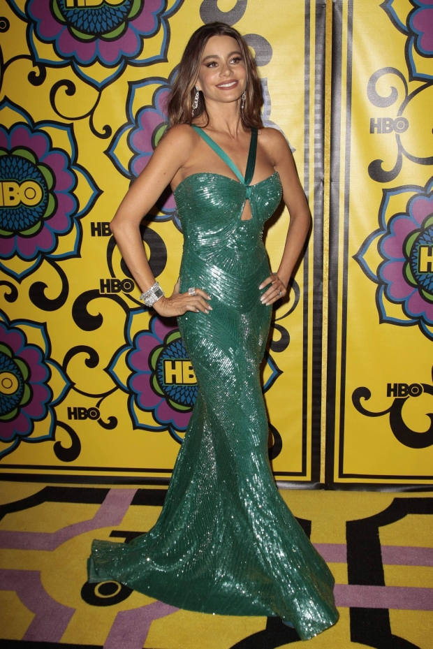 "Actress Sofia Vergara of the comedy series ""Modern Family"" arrives at HBO's post-award reception following the 64th Primetime Emmy Awards in West Hollywood, California September 23, 2012. REUTERS/Jason Redmond  (UNITED STATES - Tags: ENTERTAINMENT)"
