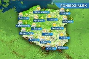 Kolejne dni tygodnia te� mro�ne. Nad Polsk� chmury i �nieg [PROGNOZA POGODY]