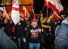 Marsz Niepodległości we Wrocławiu organizowany przez środowiska prawicowe, 11 listopada 2017..