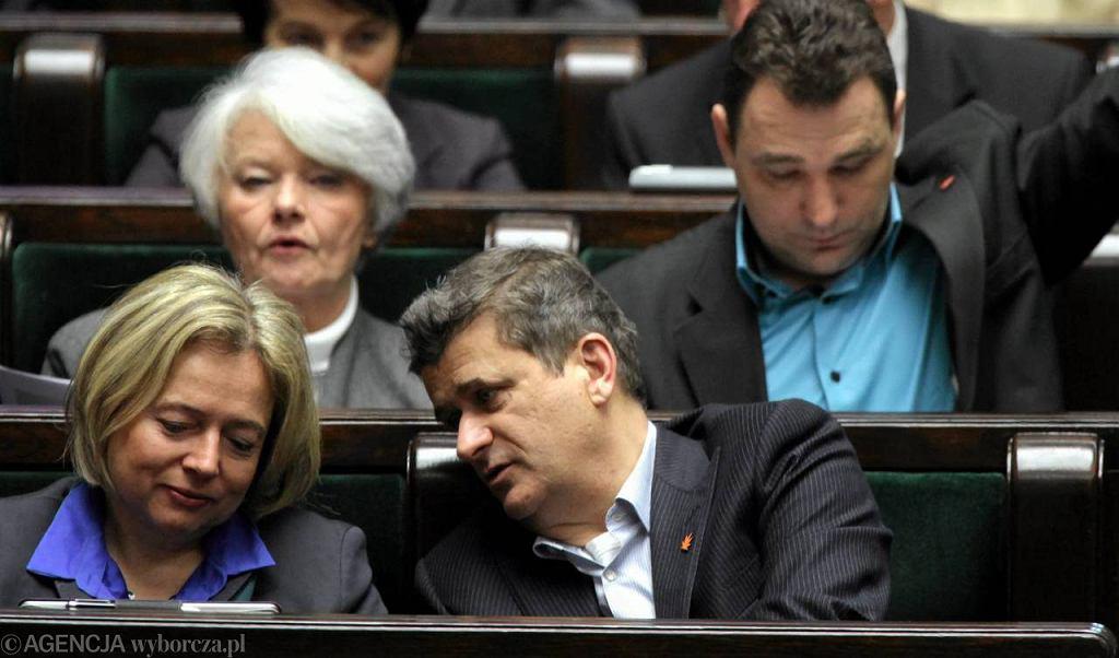Wanda Nowicka i Janusz Palikot jeszcze w zgodzie, 25.01.2012 r.