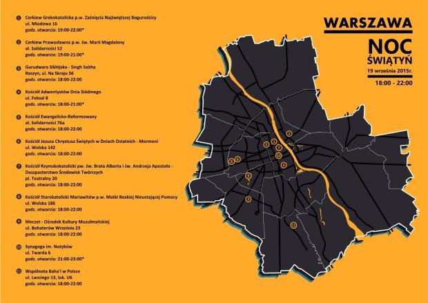 Noc Świątyń w Warszawie