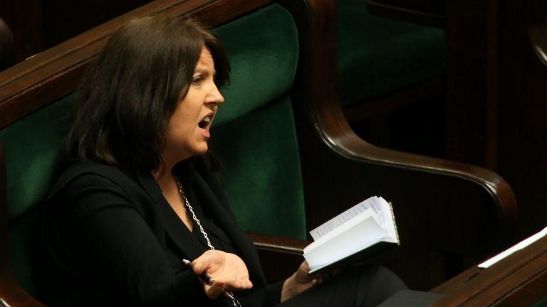 Joanna Lichocka (PiS) na posiedzeniu Sejmu