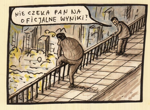 Raczkowski o wynikach wyborów -  - rys. Marek Raczkowski
