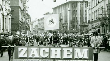 Pochód pracowników Zachemu w centrum Bydgoszczy